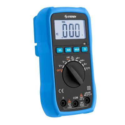 Multímetro digital auto rango con detector de voltaje