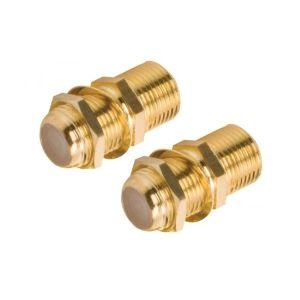 Juego de 2 coples jack a jack tipo F para conectores RG59, recubiertos de oro