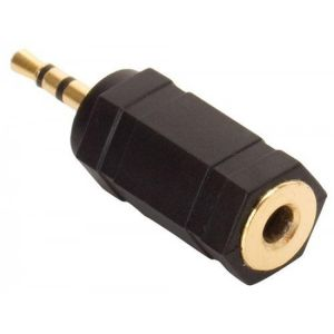 Adaptador elite de plug 2,5 mm a jack 3,5 mm, estéreo