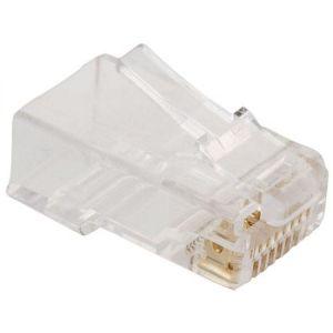 Paquete de 10 Plug RJ45 de 8 contactos CAT 5e, para cable redondo
