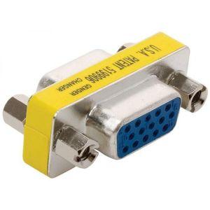 Adaptador de unión con conectores jack a jack VGA (DB15H)