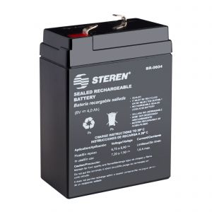 Batería sellada de ácido-plomo, 6 Vcc  4 Ah
