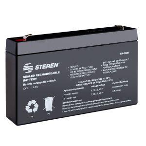 Batería sellada de ácido-plomo, 6 Vcc  7 Ah