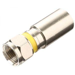 """Juego de 2 conectores macho tipo """"F"""" PermaSeal-II™ para cable RG6"""