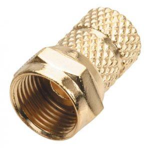 """Juego de 10 conectores macho tipo """"F"""" para cable RG59, para enroscar, recubierto en oro"""