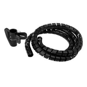 Tubo organizador de cables, tipo espiral, negro