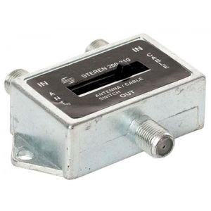 Switch AB con palanca, de 2 entradas a 1 salida, con conectores tipo F