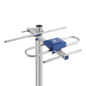 Mini antena UHF aérea de 3 elementos HD