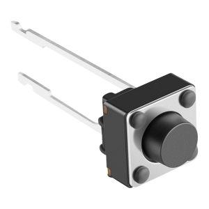 Micro switch de push con 2 terminales larga y vástago corto