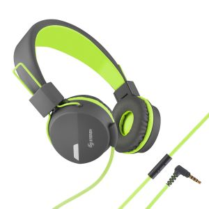 Audífonos manos libres con cable tipo cordón color Verde