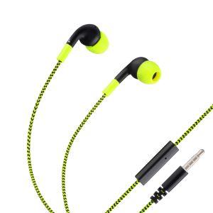 Audífonos manos libres Fit con cable tipo cordón color Verde