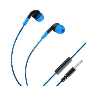 Audífonos manos libres Fit con cable tipo cordón color Azul
