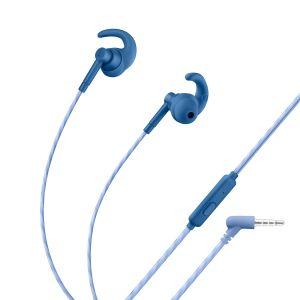 Audífonos manos libres Sport con auriculares rubber color azul