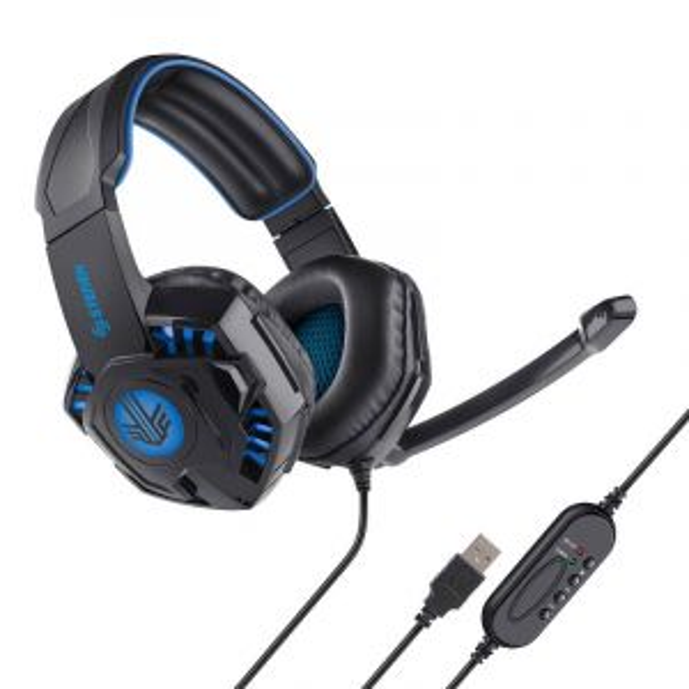 Audífonos USB para Gamers color azul