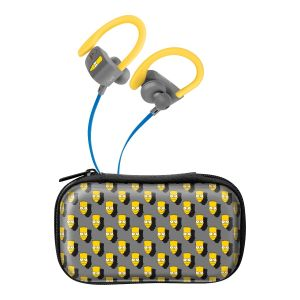 Audífonos Bluetooth* Sport Free con cable plano The Simpsons™-Bartface