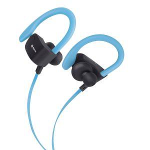Audífonos Bluetooth Sport Free con cable plano color azul
