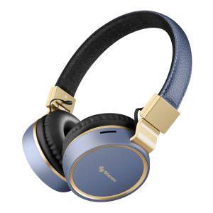Audífonos de diadema Bluetooth* con reproductor microSD color azul