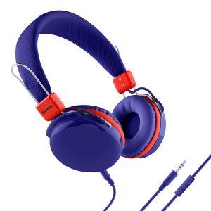 Audífonos manos libres con cable desprendible color azul