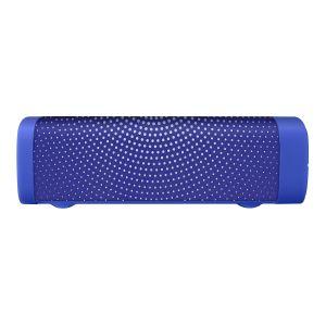 Bocina Bluetooth mini SoundBar con acabado textil azul