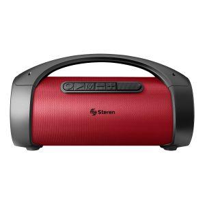 Bocina Bluetooth BoomBox TWS, 350 W PMPO, roja