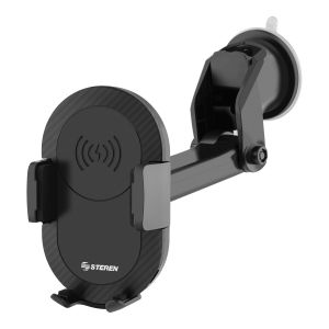 Soporte para celular con cargador inalámbrico Qi