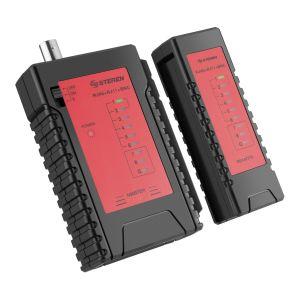 Probador de cables multiredes de Categoría 5 UTP, FTP, STP y coaxial