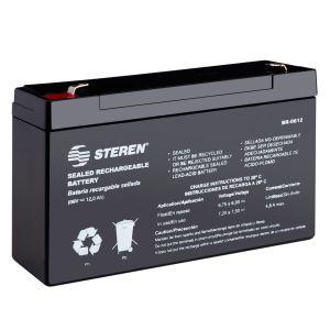 Batería sellada de ácido-plomo, 6 Vcc  12 Ah