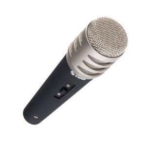 Micrófono con cabeza metálica