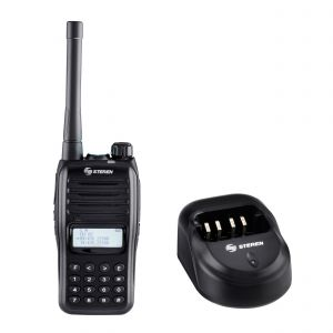 Radio intercomunicador profesional con teclado y display, hasta 7 Km de alcance