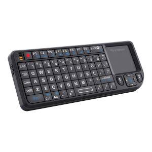 Teclado inalámbrico con touch pad para Smart TV, con apuntador láser