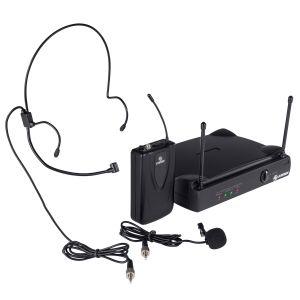 Micrófono profesional inalámbrico UHF, de solapa o diadema
