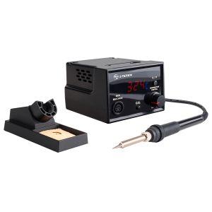 Cautín profesional de estación con control de temperatura y display, de 60 Watts