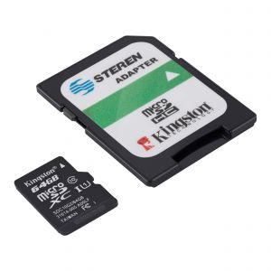 Memoria microSD de 64 GB, clase 10, U1