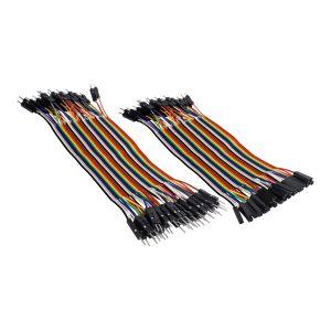 Juego de 80 cables de 15 cm tipo Dupont