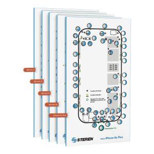 Plantillas para organización de tornillos de iPhone 6 / 6S / 6S Plus / 5 y 5S