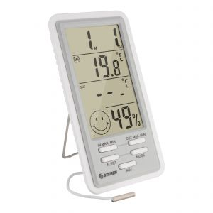 Termómetro digital para interior/exterior con sensor de humedad