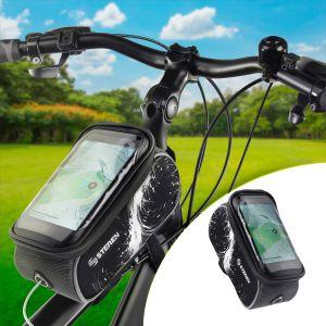 Bolsa para bicicleta con soporte para celular