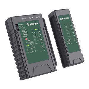 Probador de cables de red UTP, FTP, STP, PoE y telefónico