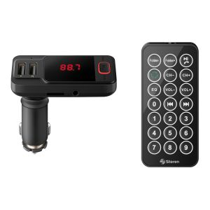 Transmisor FM Bluetooth con cargador USB y reproductor MP3