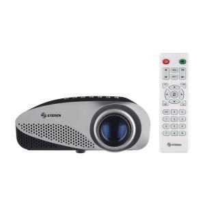 Mini proyector multimedia de 120 lúmenes con sintonizador de TV, portátil