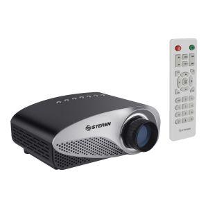Mini proyector multimedia con sintonizador de TV, portátil
