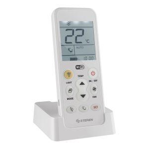 Control remoto universal Wi-Fi para aire acondicionado, con batería recargable y linterna LED