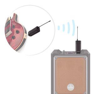 Transmisor de audio inalámbrico, para instrumentos