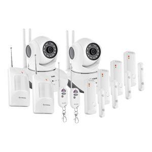 Sistema de seguridad Wi-Fi con cámaras y sensores