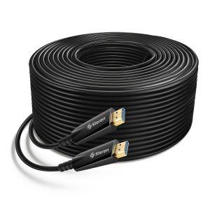 Cable HDMI 4K de fibra óptica, 50 m