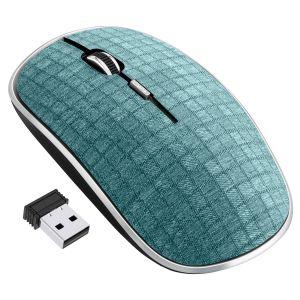 Mouse inalámbrico 1000 DPI con acabado textil