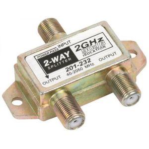 Divisor de 2 salidas, de 75 Ohms, 2 GHz, 90 dB