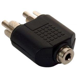 Adaptador de 2 plugs RCA a jack 3,5 mm estéreo