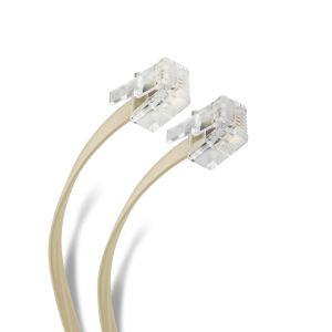 Cable telefónico plug a plug, para extensiones de 2,1 m