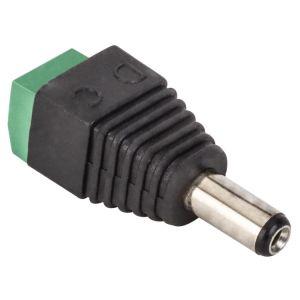 Juego de 2 adaptadores de Plug invertido 2,1 mm a 2 terminales